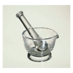 Variety Glass CoorsTek™ Clear Glass Mortar and Pestle Sets