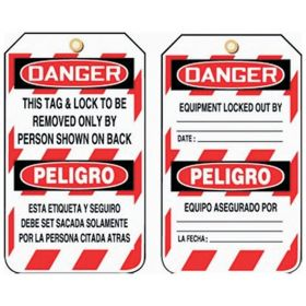 Accuform Signs Lockout/Tagout Tags
