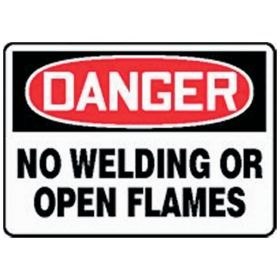 Accuform Signs No Welding or Open Flames Sign