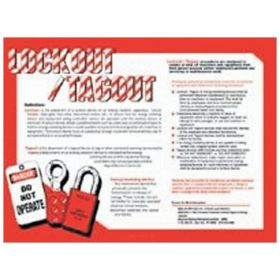 Accuform Signs Lockout/Tagout Safety Awareness Poster