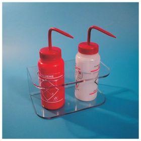 S-Curve™ Two-Compartment Wash Bottle Racks
