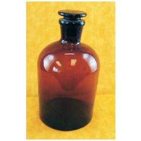 DWK Life Sciences Wheaton™ Amber Glass Reagent Bottle with Ground Glass Stopper