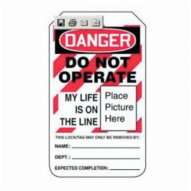 Accuform Signs Danger: Do Not Operate My Life Is On The Line