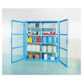 Denios Caged Containment Shelving