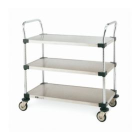 Metro™ MW Series Utility Carts with Solid Shelves