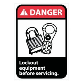 National Marker™ Lock Out Equipment Before Servicing Signs