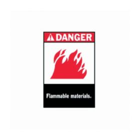 Brady™ Danger Flammable Materials Sign