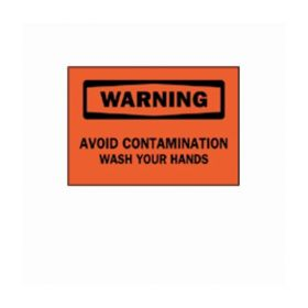 "Brady™ ""Warning: Avoid Contamination…"" Laboratory Signs"