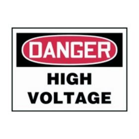 Accuform Signs Danger: High Voltage