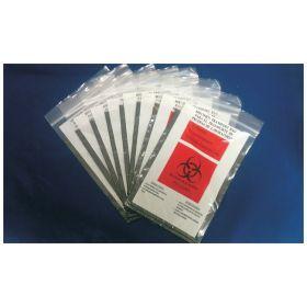 Cen-Med Black Biohazard Specimen Bag, 6 x 9 in.