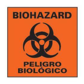 National Marker™ Biohazard: Peligro Biologico Sign