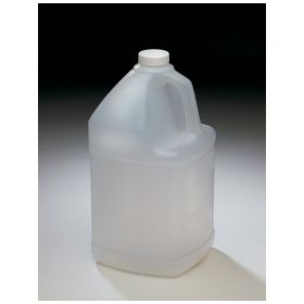 Qorpak™ Natural HDPE Square Handled Jugs — With Cap