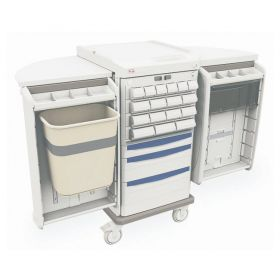 Metro™ Starsys™ Preconfigured Mobile Workstation, LAR Anesthesia Cart