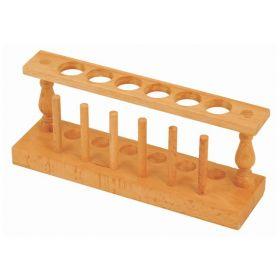 Eisco™ Six Hole Wood Test tube Rack