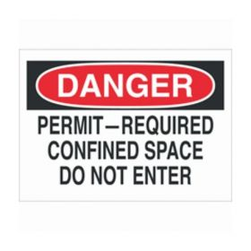 "Brady™ ""Danger: Permit-Required Confined Space…"" Signs"