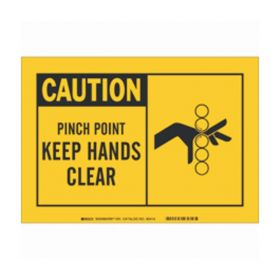 Brady™ Alert Signs - CAUTION: PINCH POINT KEEP HANDS CLEAR (w/Picto)