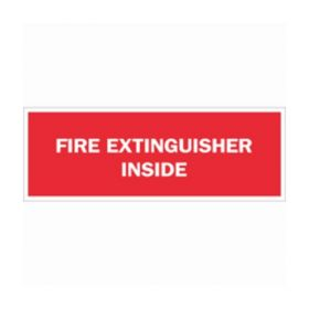 Brady™ Fire Safety Signs: FIRE EXTINGUISHER INSIDE