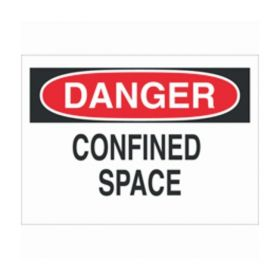 Brady™ Safety Signs: DANGER - CONFINED SPACE