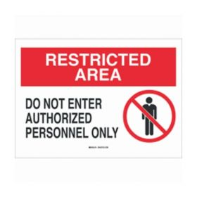 Brady™ Security Area Sign: DO NOT ENTER AUTHORIZED PERSONNEL ONLY (w/Picto)