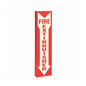 Brady™ High Visibility Tall Fire Extinguisher Signs