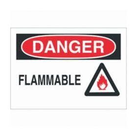 Brady™ Polystyrene Danger Sign: FLAMMABLE, pictogram