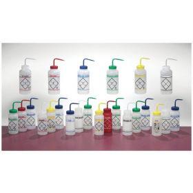 Bel-Art™ SP Scienceware™ Wide Mouth Color-Code Safety Labeled Wash Bottles