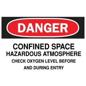 Brady™ Danger Confined Space Hazardous Atmosphere Sign
