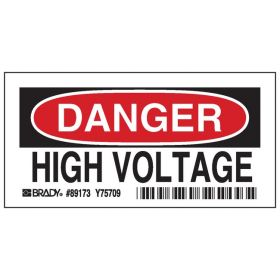 Brady™ Admittance Signs: DANGER HIGH VOLTAGE