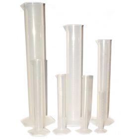 Eisco™ Set of 7 Plastic Graduated Cylinders, Premium Polypropylene, Hexagonal Base, Raised Graduations