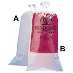 Bel-Art™ SP Scienceware™ Biohazard Disposal Bags with/without Warning Label, Translucent; Without sterilization indicator patch; 24 x 36 in. (61 x 91cm)