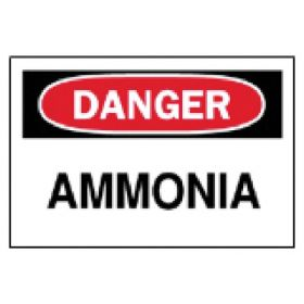 Brady™ Chemical and Hazardous Materials Signs: Ammonia