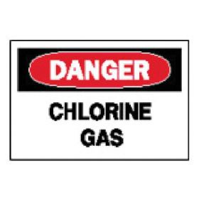 "Brady™ ""Danger: Chlorine Gas"" Signs"