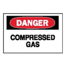 "Brady™ ""Danger: Compressed Gas"" Signs"