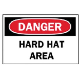 Brady™ Machine and Operational Signs: Hard Hat Area