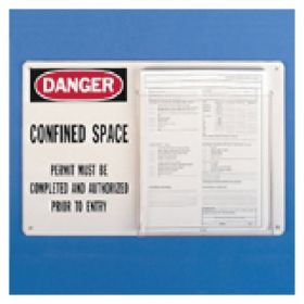 Brady™ Confined Space Sign/Permit Holder