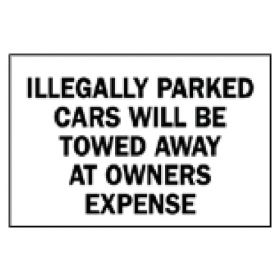 Brady™ Traffic Signs: Illegally Parked Cars Will Be Towed