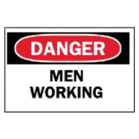 Brady™ Machine and Operational Signs: Men Working