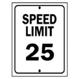 Brady™ Traffic Signs: Speed Limit 25MPH