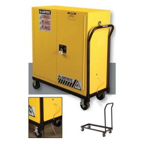 Justrite™ Rolling Cart for Safety Cabinets