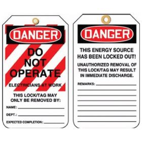 Accuform Signs Lockout Tags