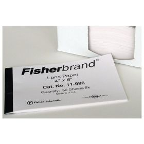 Fisherbrand™ Lens Paper, 4L x 6 in. W (10.1 x 15.2cm); Sheets per book: 50