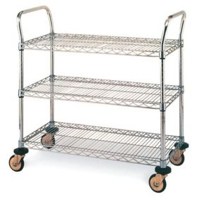 Metro™ MW Series Utility Cart with Wire Shelves