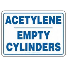 Accuform Signs Acetylene Empty Cylinder Tag