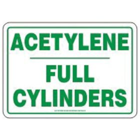 Accuform Signs Acetylene Full Cylinder Tag
