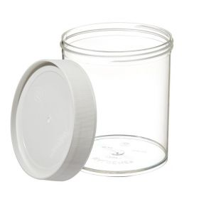 Thermo Scientific™ Nalgene™ Wide-Mouth Straight-Sided PMP Jars with White Polypropylene Screw Closure, 1000mL, Capacity: 32 oz. (1000mL)