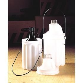 Thermo Scientific™ Nalgene™ Safety Bottle Carriers; LDPE, PC cap, epoxy-coated handle