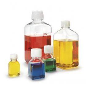 Thermo Scientific™ Nalgene™ PETG Square Storage Bottles (w/White Closure)